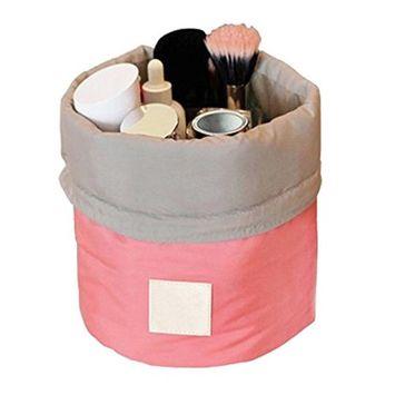 Travel Toiletry Bag Hanging Wash Bags Barrel Shaped Drawstring Cosmetic Bag
