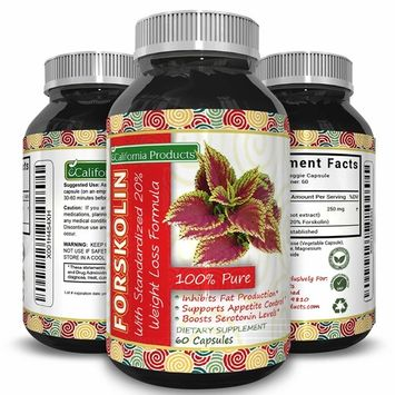 Forskolin For Weight Loss - Burn Belly Fat Boost Metabolism - Effective Dietary Supplement - For Men and For Women - High Quality - Pure Forskolin Extract