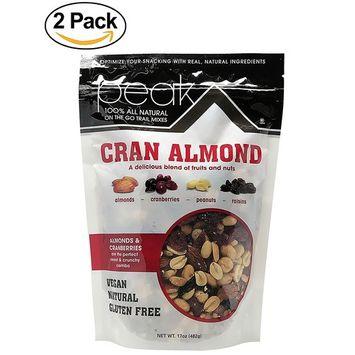 Peak Trail Mix - Cranberry Almond 100% All Natural Trail Mix, Vegan , Gluten Free