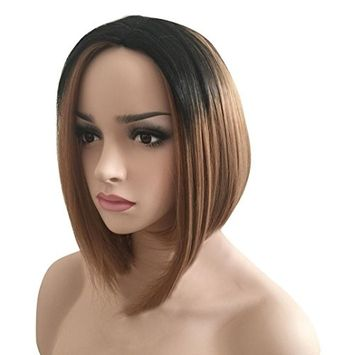 Fake Hair,vmree 32CM Female wigs Gorgeous Short hair BoBo Hair Straight Hair