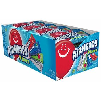 AirHeads Candy Variety Pack with 9 Individually Wrapped Assorted Fruit Bars, Party, 74.25 Ounce