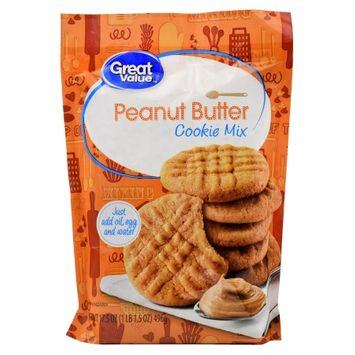 Wal-mart Stores, Inc. Great Value Peanut Butter Cookie Mix, 17.5 oz