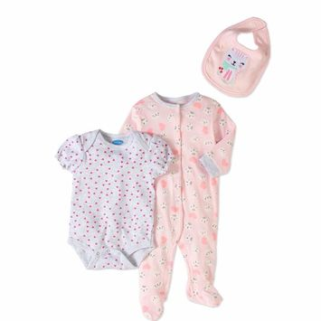born Baby Girl Take-Me-Home, 3pc Set [baby_clothing_size: baby_clothing_size-3-6m]