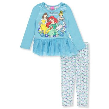 Disney Princess Little Girls' 3-Piece Outfit (Sizes 4 - 6X)