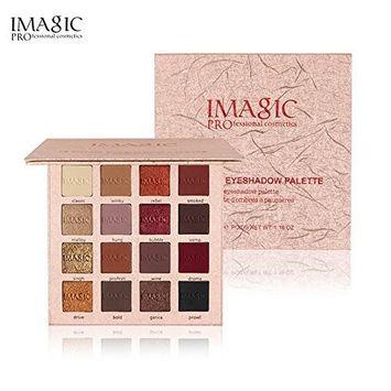 16 Color Matte Eye Shadow Luxury Makeup Shimmer Matte Powder Pigment Metallic Gold Nude Black Eyeshadow Palette