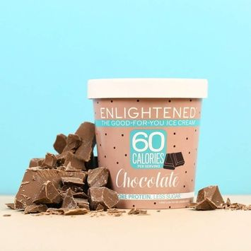 Enlightened - The Good For You Ice Cream, High Protein-Low Sugar-High Fiber-Low Fat, Chocolate, Pint (8 Count)