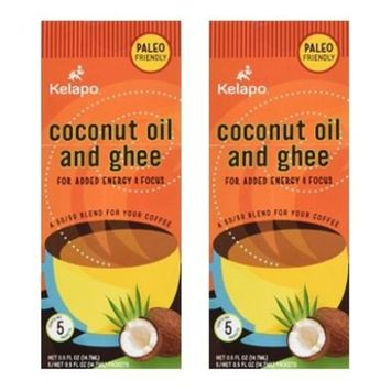 Kelapo Coconut Oil and Ghee 50/50 Blend Packets, 5 Packet Box