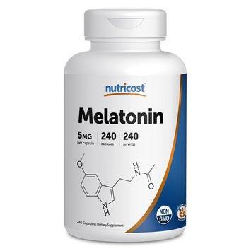 Nutricost Melatonin 5mg, 240 Capsules (3 Bottles)