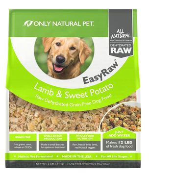 Only Natural Pet EasyRaw Dog Food - Raw, Grain Free, Dehydrated, Lamb and Sweet Potato size: 2 Lb