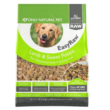 Only Natural Pet EasyRaw Dog Food - Raw, Grain Free, Dehydrated, Lamb and Sweet Potato size: 7 Lb