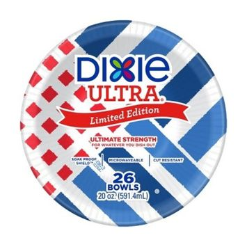 Dixie Ultra® Limited Edition Paper Bowls - 26 Bowls - 20oz
