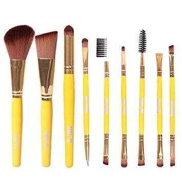 OVERMAL 2016 Brush,9pcs Pro Makeup Cosmetic Brushes Eyeshadow Foundation Blending Brush