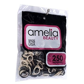 Amelia Beauty 250 Count Rubber Band Ponytail Holders