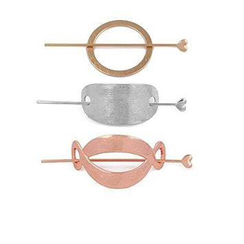 Joyci 3Pcs Fashion Women's Hair Pin Hair Fork Slide Tuck Hair Clip Accessory (A)