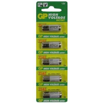 GP Battery 12V 10 Pcs High Voltage Alkaline 23AE