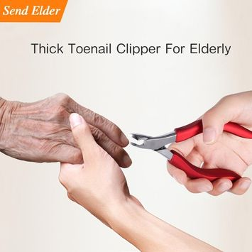 Toenail clippers for elderly, Used For Thick Toenails 、Fungi Toenails 、Ingrown Toenails. Long Handle, Leather Packaging, Safe Storage