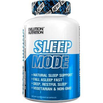 Evlution Nutrition Sleep Mode | Fall Asleep Faster | Melatonin, GABA, Valerian Root & More | Natural Aid for Deeper Sleep & Relaxation | 60 Non-Habit-Forming Vegetarian Capsules [Sleep Mode]