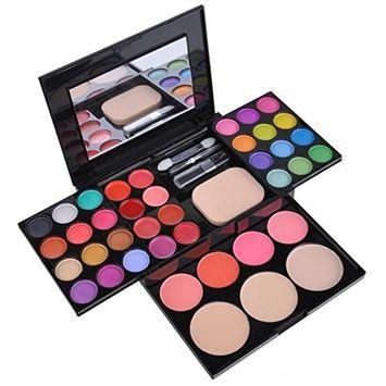 Eshion Pro Full Color Makeup Palette Kit Tools with Foundation Powder Eyeshadow Blusher Lipstics