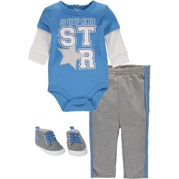 Bon Bebe Baby Boys 0-9 Months Super Star Shoe Pant Set