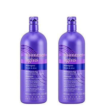 Clairol Professional Shimmer Lights Silver Shampoo 31.5 oz 2 x HP-CRL1560