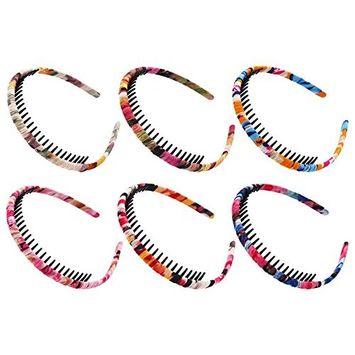 STHUAHE 6PCS Woman Bohemia Style Protection Resin Teeth Comb Hair Hoop Hairband Headband Hair Accessories by Beauty Hair