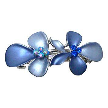 Crystal Flower Barrette NF86300-GL8blue