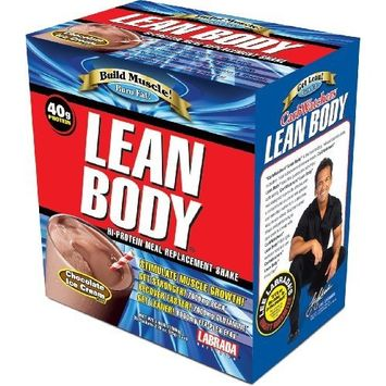 Labrada Nutrition Lean Body Hi-Protein Meal Replacement Shake, Chocolate, 20 - 2.78 oz Packets [Chocolate]