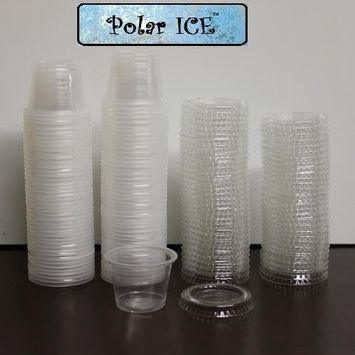 Polar Ice 160 Jello Shot Souffle Cups with Lids, 1-Ounce, Translucent