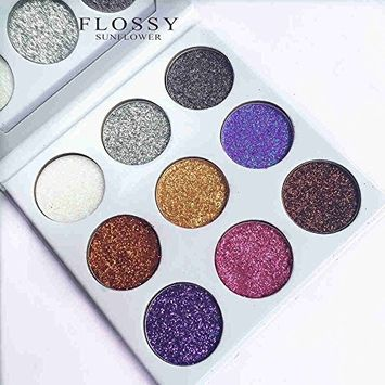 9 Colors In 1 Glitters Eye shadow Palette Rainbow Diamond Pressed Glitters Eyeshadows Palette Cosmetic Make Up Glitter injections