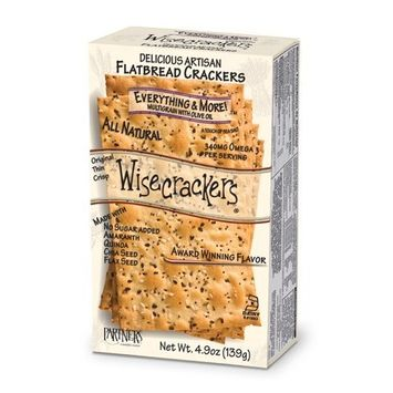 Wisecrackers Everything and More Multigrain Crackers with Olive Oil, 4.9-Ounce (Pack of 6)