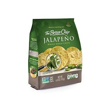 The Better Chip Whole Grain Chips, Jalapeno, 6.4 Ounce (Pack of 12)