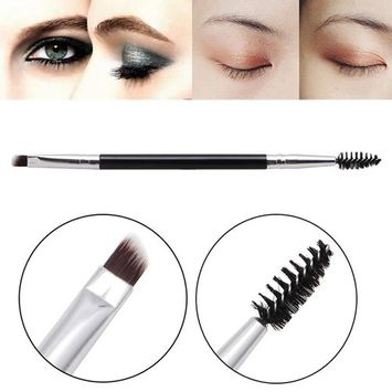 Uknows 2 in 1 Makeup 12# Large Synthetic Duo Brow Brush Blending Eyebrow Brushes Kit