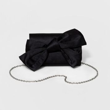 Estee & Lilly Women's Satin Bow Clutch