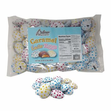R.M. Palmer Chocolate Flavor Caramel Filled Half Eggs – 2 Lbs. – Individually Wrapped Easter Bulk Candy – Perfect For Gift Baskets – Irresistibly Sweet and Delicious