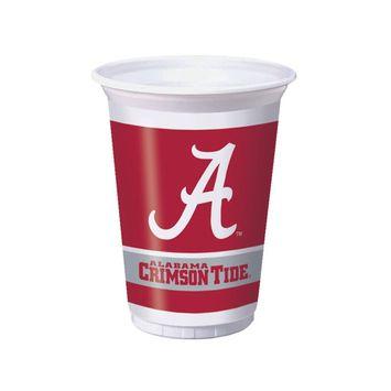 20 oz Printed Plastic Cups Univ of Alabama/Case of 96