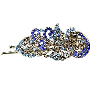 TOOGOO(R) Lovely Vintage Jewelry Crystal Peacock Hair Clips Hairpins - For Hair Clip Beauty Tools