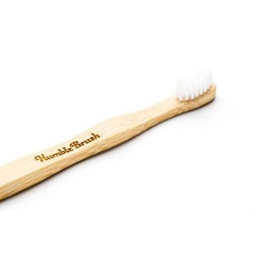 Humble Brush - Eco Friendly, Sustainably Grown, Natural Bamboo Toothbrush with BPA Free Bristles - Child White [1]