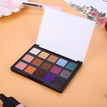 Fdrirect Mini Makeup 15-Colors Matte Eyeshadow Palette Set Cosmetic Shimmer Kit Female