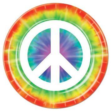 Peace Sign Plates (8/Pkg)