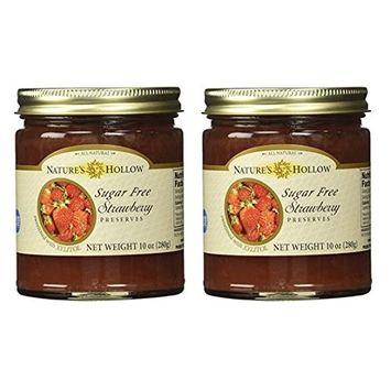 Nature's Hollow, Sugar-Free Strawberry Jam Preserves 2-Pack, 10 Ounces Each [Strawberry]