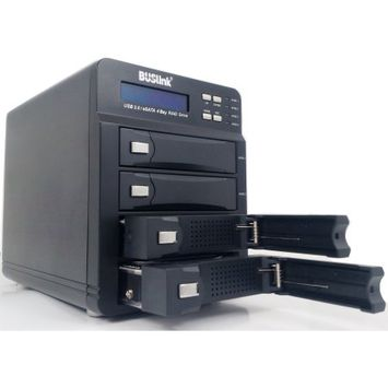 Buslink Media Buslink U3-40TB4S DAS Array - 4 x HDD Supported - 4 x HDD Installed - 40TB Installed HDD Capacity - 4 x Total Bays - eSATA, USB 3.0 - 0, 3, 5, 10, LARGE RAID Levels Desktop