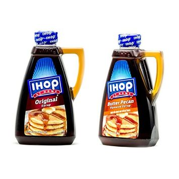 Ihop At Home Variety Pack with Original and Butter Pecan Syrup 24oz Bottles