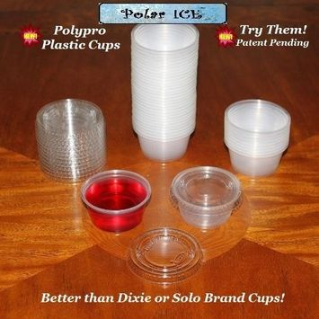 Polar Ice PIJS040200 Jello Shot Souffle Cups with Lids, 2-Ounce, Translucent, 40-Pack