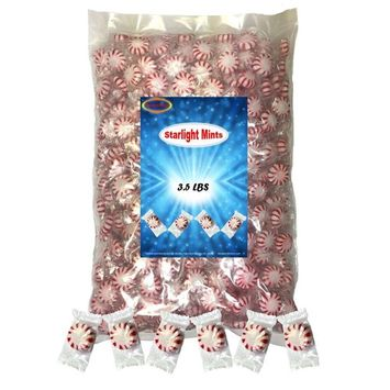 Peppermint Starlight Mints 3.5 lbs individually wrapped Hard Candy