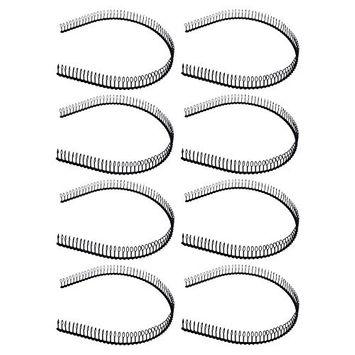 STHUAHE Unisex Black Metal Teeth Comb Hair Hoop Hairband Headband Hair Accessories by Beauty hair 8PCS
