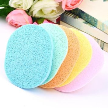 Cleansing Cellulose Sponge Face, Wash Makeup Buffer Remover Facial Sponge, 6Pcs