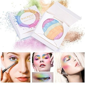 Women Professional Eyeshadow, Vmree Rainbow Shimmer Eye Shadow Palette Multicolor Highlighter Youth Activating Face Makeup Girls Necessary Cosmetics