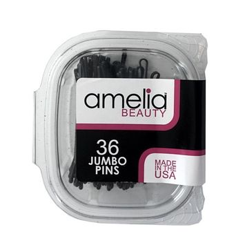 36 Count Jumbo Pins in a Clamshell - Black