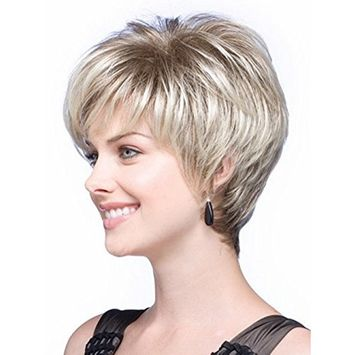 Menoqi Wigs Women's Short Wigs Curly Wigs Silver Natural Looking Cheap Wig with Wig Cap WIG167