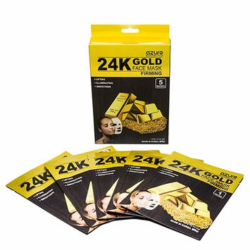 Azure 24K Gold Face Mask- 5 Pack